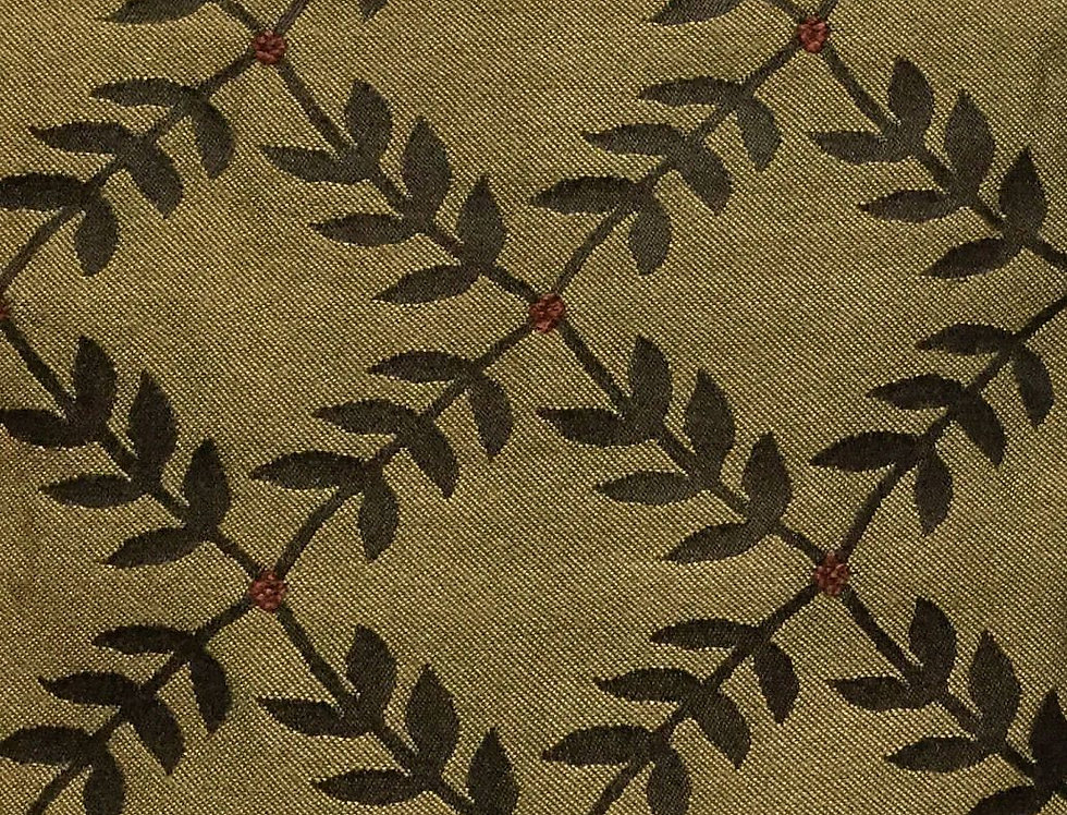 Brown Leafy Diamond - Red Dots