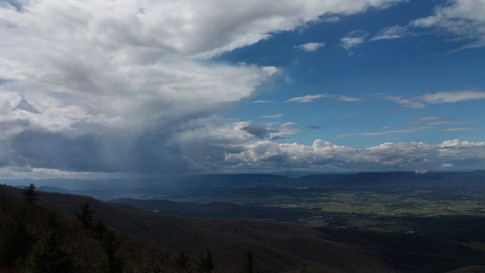 Storm over Shenandoah Valley, viewed from Skyline Drive