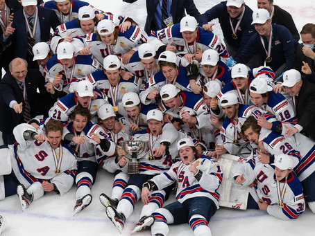 The United States wins the World Junior Hockey Championship over Canada