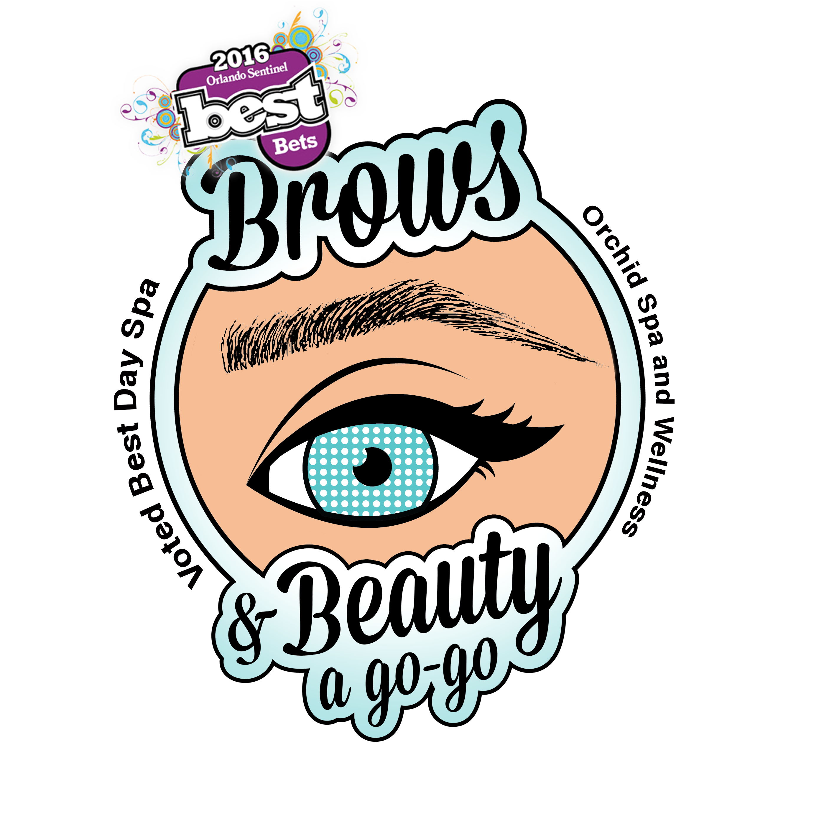 Brows & Beauty A GoGo Logo
