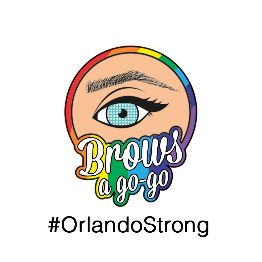 Brows a gogo Rainbow Logo