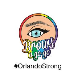 Brows a gogo Rainbow Logo