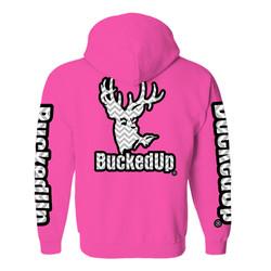 BuckedUp Hoodie Chevron BUBBLE GUM