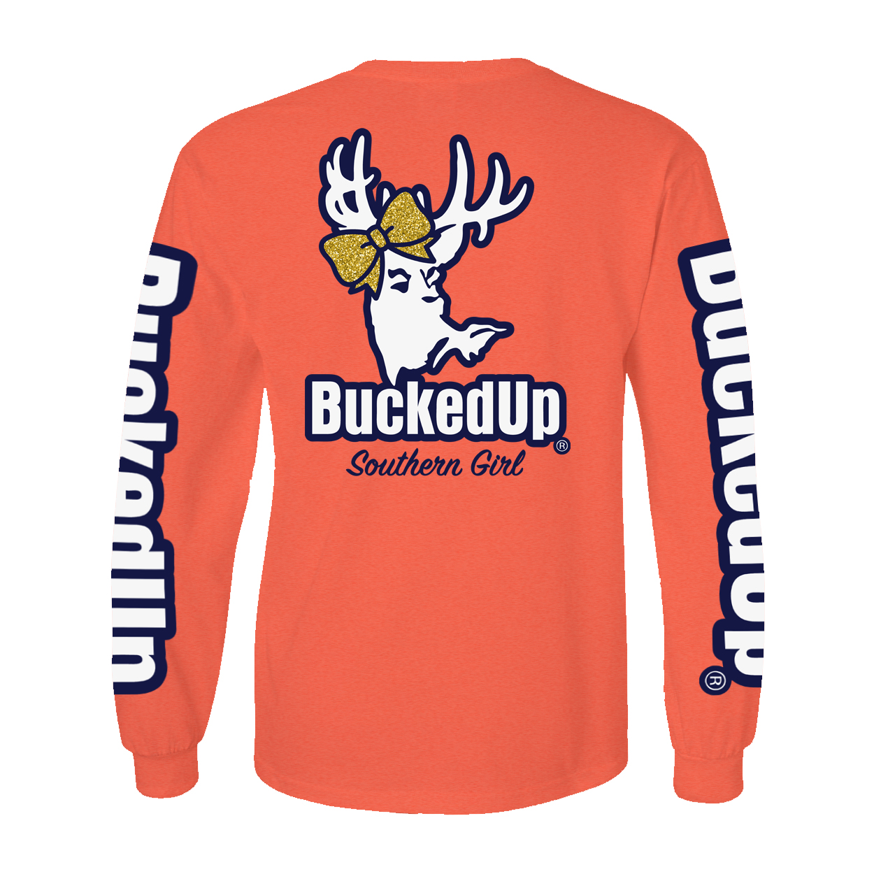 BuckedUp Long Sleeve Bow Coral