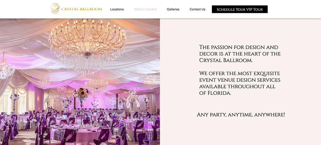 Crystal Ballroom Services