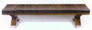 SMSA 144 Bench in Walnut 6' L x 22 D x 1