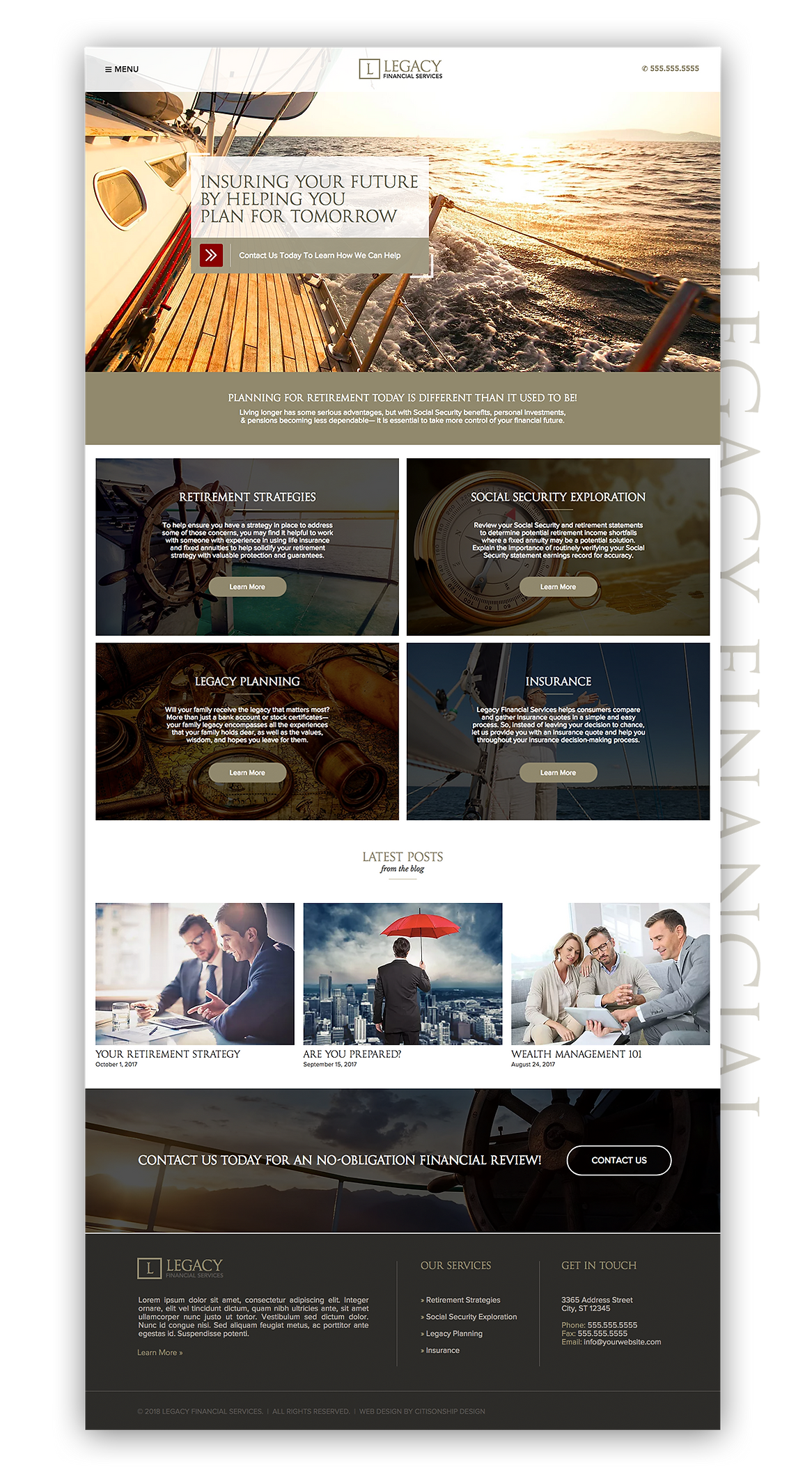 Financial Advisor Web Design & Branding | Citisonship Design