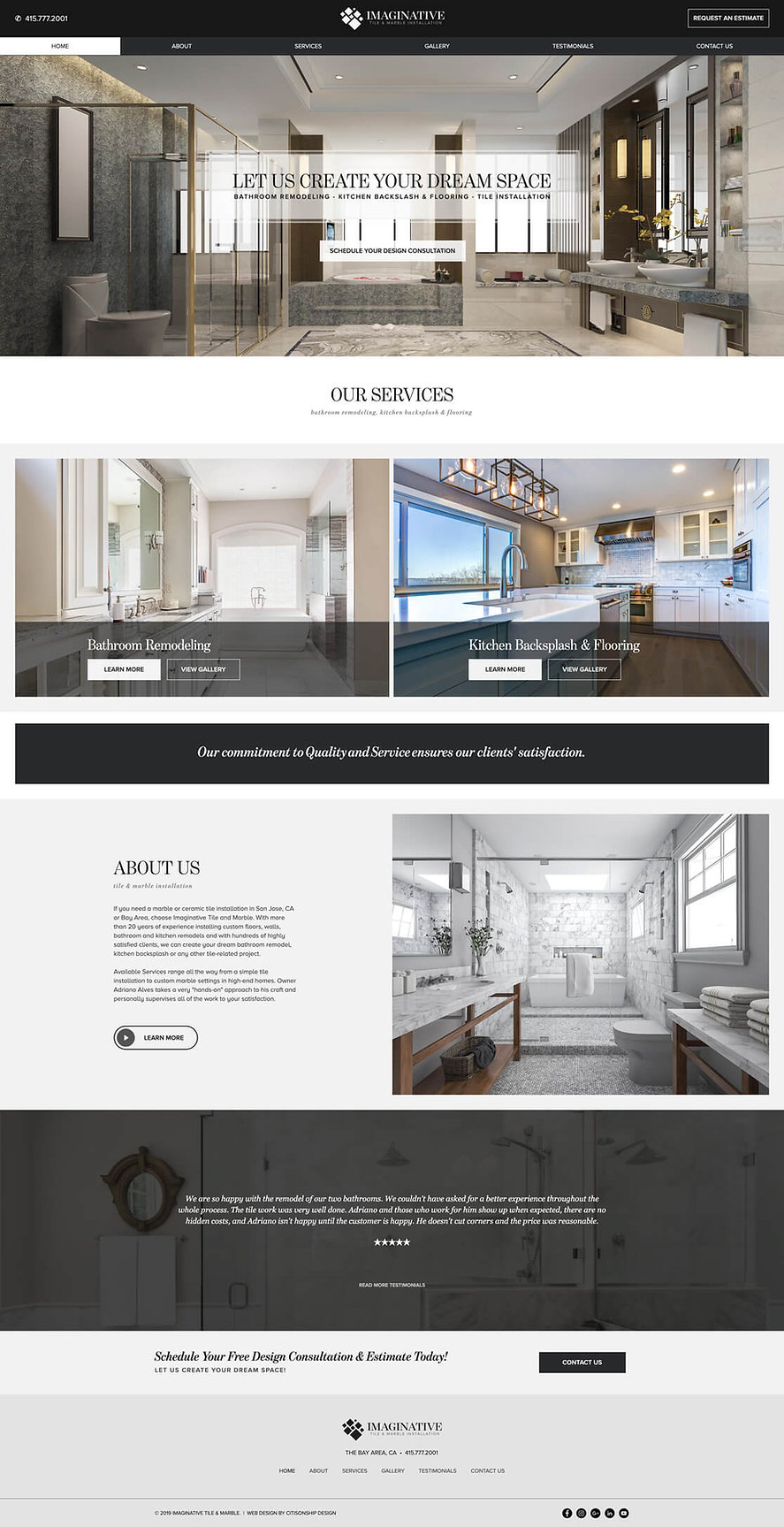 Website Design for Imaginative Tile & Marble