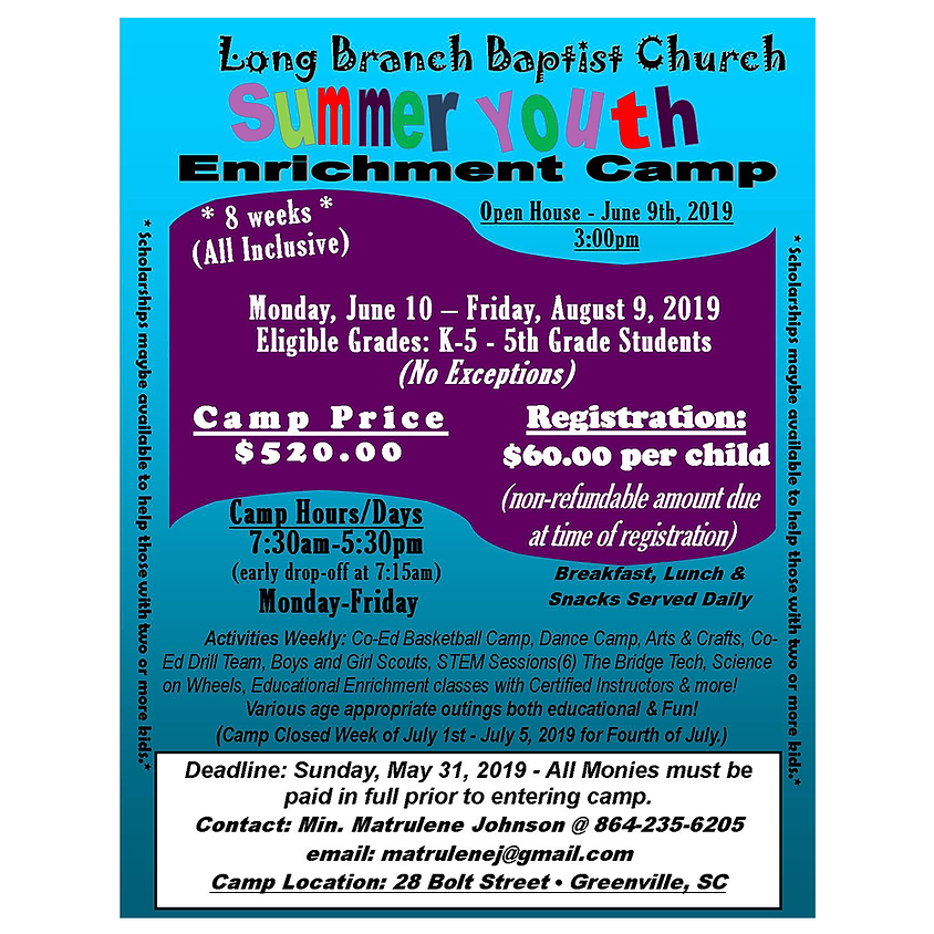 Summer Youth Enrichment Camp