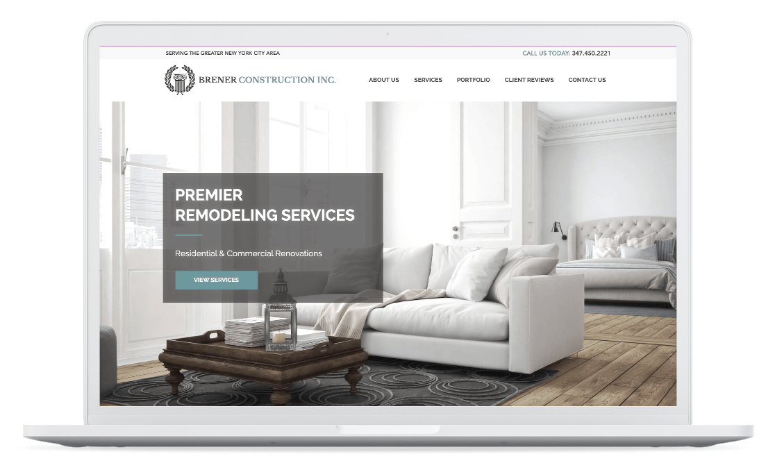 Construction Website Design, Renovation Company Web Design, Remodeling Website Design