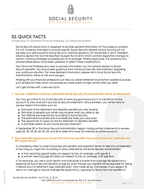Social Security Quick Facts