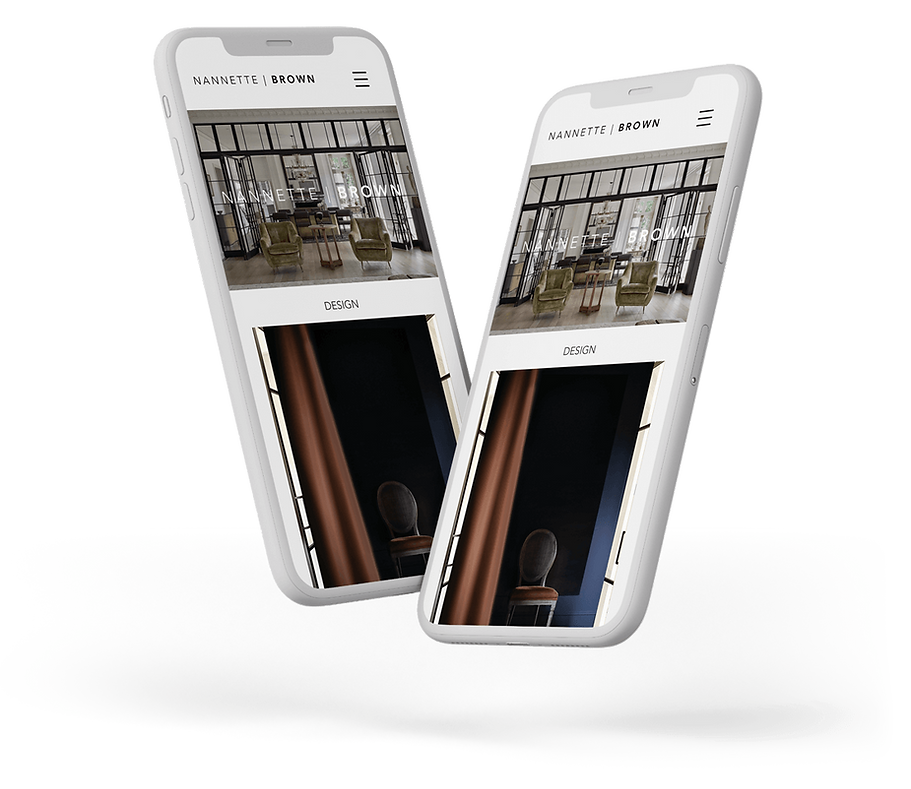 mobile responsive website design, interior design web design