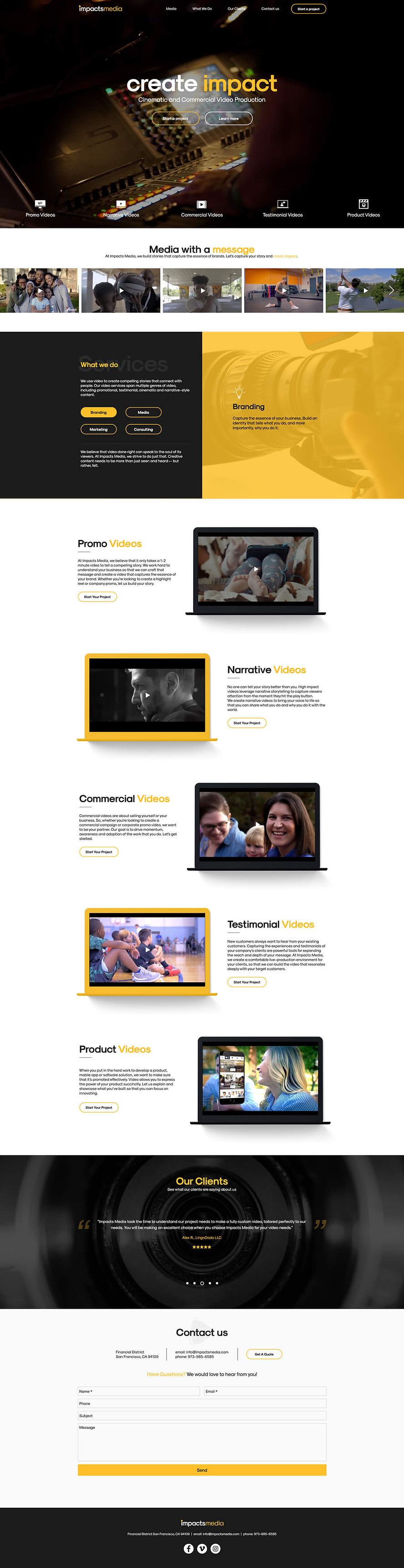 Video Production Website Design