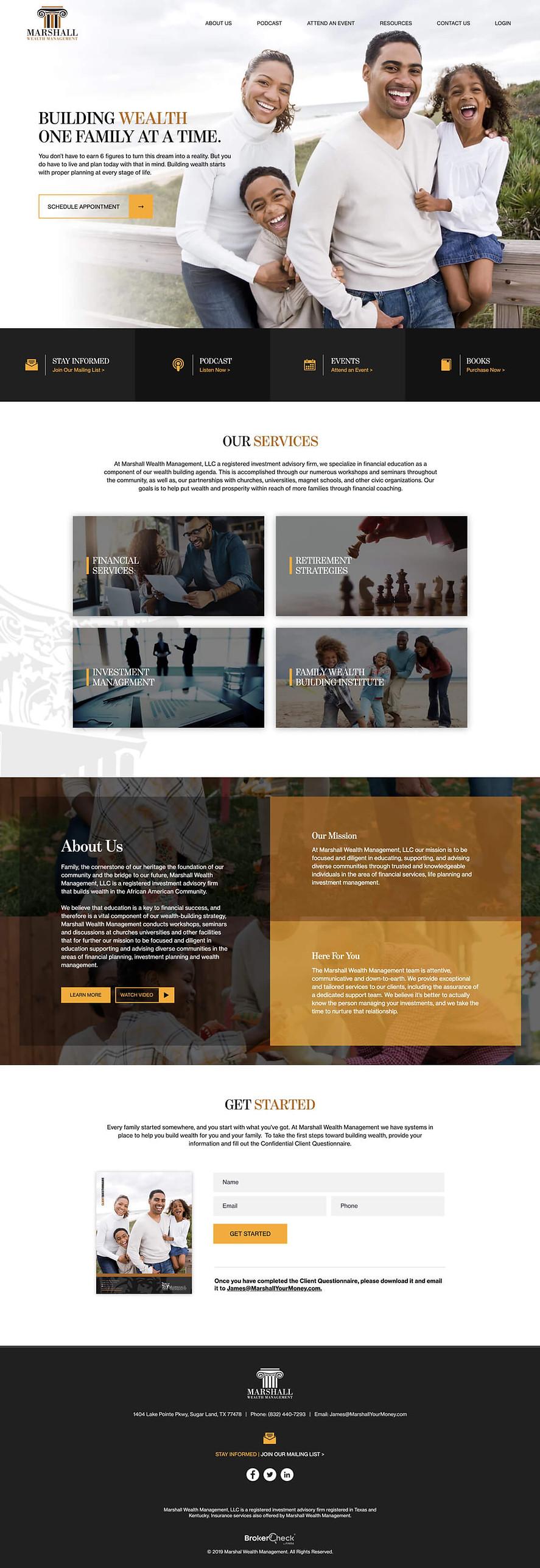 Financial Advisor Website Design