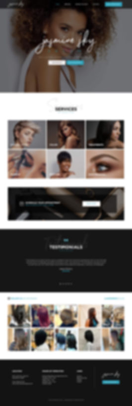 Jasmine Sky Salon Website Design, Professional Salon