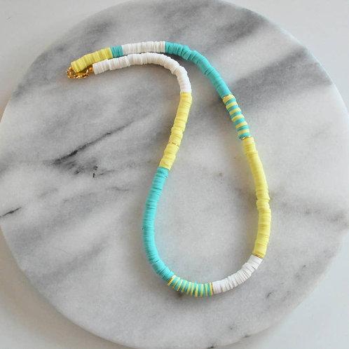 Lemon Turquoise Heishi Bead Necklace