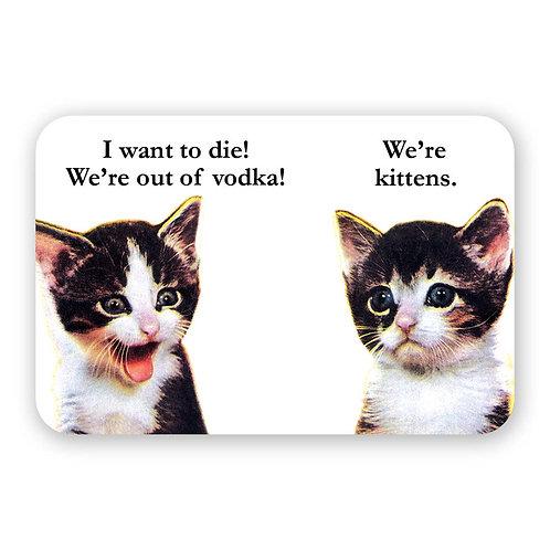 Kittens and Vodka Sticker