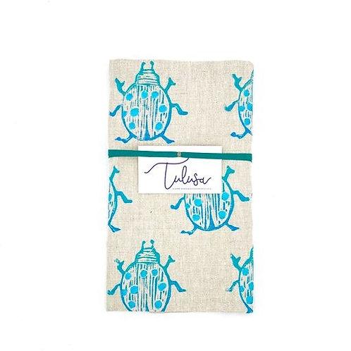 Linen Tea Towel - Beetle
