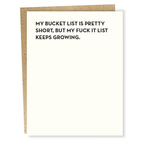 Bucket List Card