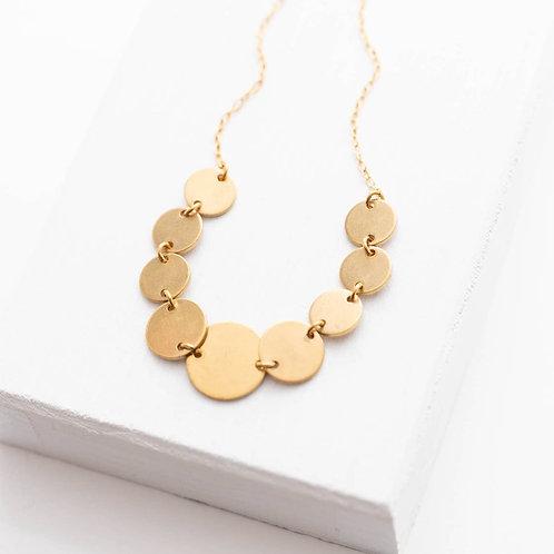 Brass Dot Necklace