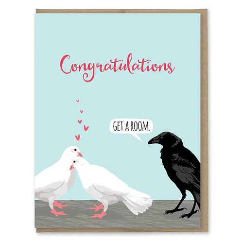 Get a Room Congrats Card