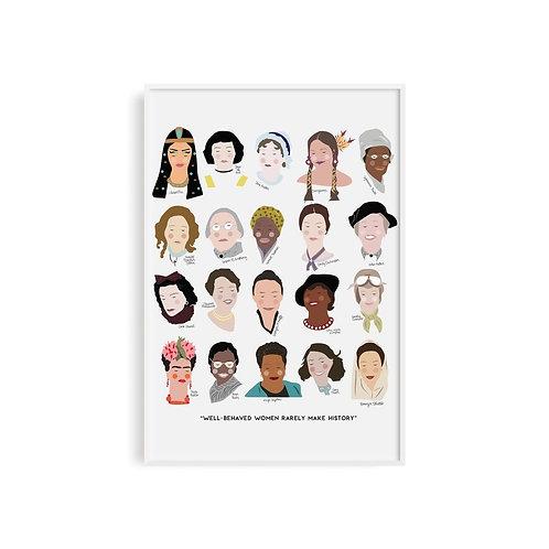 Women of History  Print