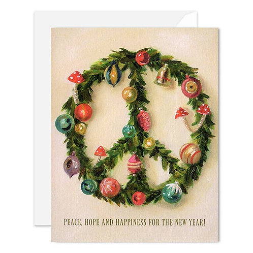 Janet Hill Peace Wreath Set of 8 Cards