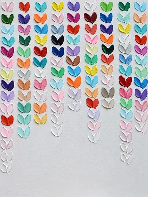Polka Daub Heart Trickle by Ann Marie Coolick