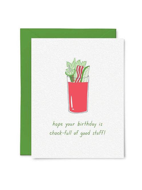 Bloody Mary Birthday Card