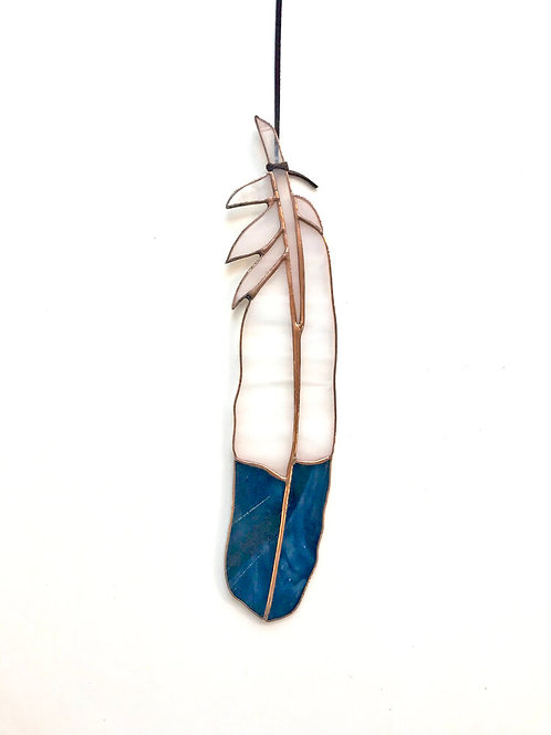 Stained Glass Eagle Feather