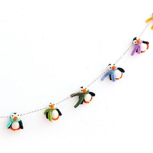 Penguin Felt Garland