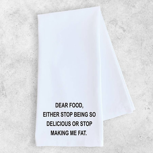 Dear Food Tea Towel