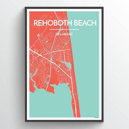 Rehoboth Beach Street Map