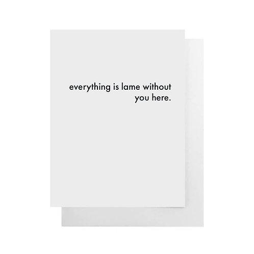 Lame Card