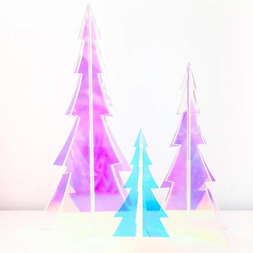 Iridescent 3D Acrylic Trees