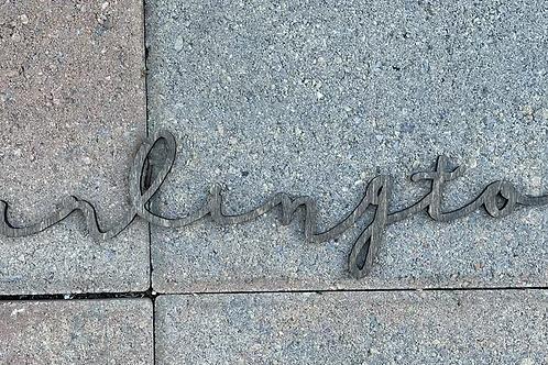 Script Arlington Floating Sign