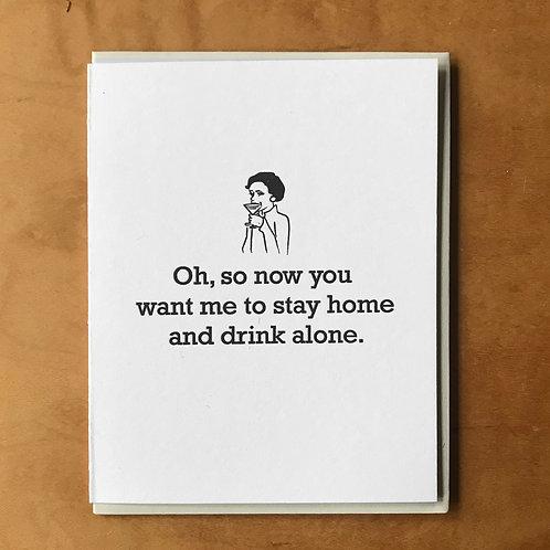 Drink Alone Card