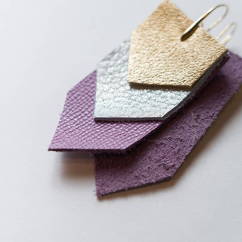 The Govalle Leather Earring