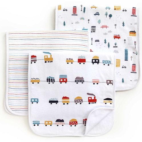 City Life Burp Cloth Set