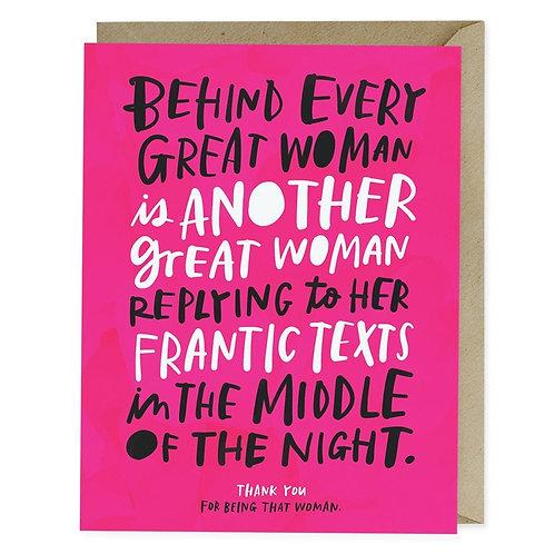 Great Woman Card