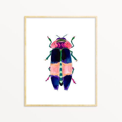 Jeweled Beetle Prints