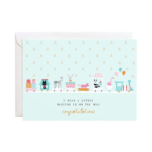 Choo Choo Baby Card