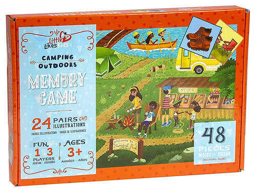 Little Likes Kids Camping Outdoors Memory Game