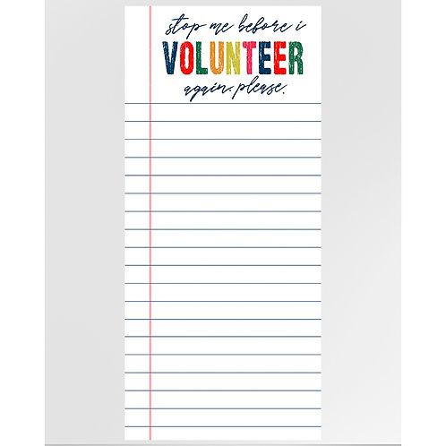 Volunteer Notepad