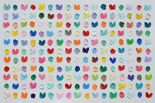 Polka Daub Hearts 2 by Ann Marie Coolick