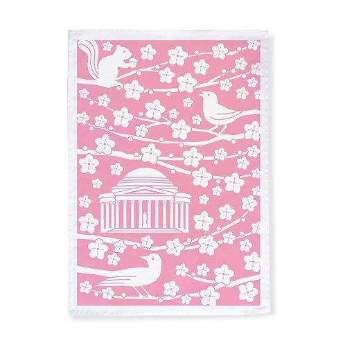 DC Cherry Blossoms Tea Towel