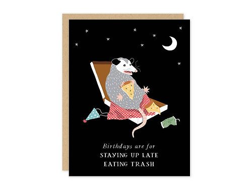 Possum Birthday Card