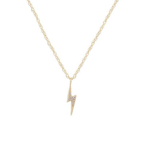 Lightening Bolt Pave Necklace