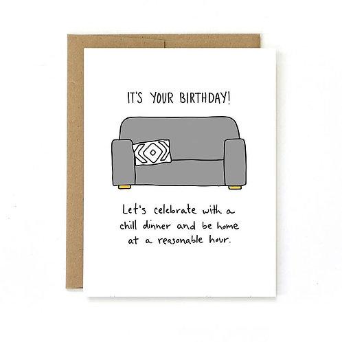 Reasonable Hour Birthday Card