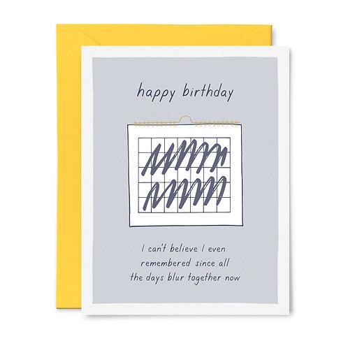 Blurred Together Birthday Card